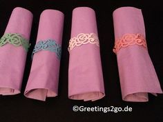 Neu im Sortiment. Serviettenringe aus Papier. Bei www.Greetings2go.de