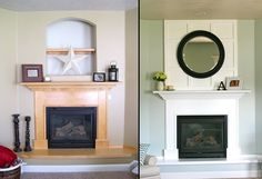 Fantastic solution to an awkward hole in the wall--board and batten to the rescue! via 6th Street Design School http://6thstreetdesignschool.blogspot.com/2011/08/solution-for-fireplace-problem.html