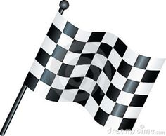 The Chequered Flag - signals the official end of the race & is thus associated with the winner. http://en.wikipedia.org/wiki/Checkered_flag#The_chequered_flag