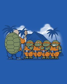 Ninja Kame Students T-Shirt $10 TMNT tee at ShirtPunch today only!