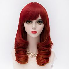Fashion+Medium+Long+Kinky+Curly+Hair+With+Side+Bang+Red+Synthetic+Harajuku+Lolita+++Party+Wig+–+USD+$+11.95