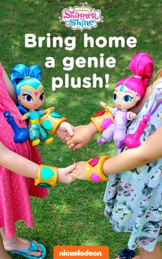 Shimmer and Shine, genie plushes divine! Make playtime more magical when you bring home a soft and cuddly plush Shimmer and Shine genie doll. This would also make a fantastic gift for any preschooler's Shimmer and Shine birthday party.