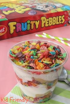 Kid Friendly Recipe: Fruity Pebbles Parfait