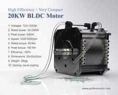electric car motor, 20KW electric car motor, 20KW BLDC Motor