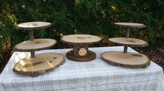Tree Cupcake Stand Log Cupcake Stand Rustic by YourDivineAffair
