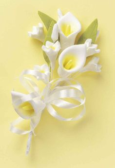 how to make a cascading calla lily bouquet - Google Search