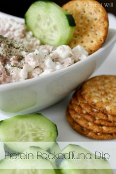 Tuna and cottage cheese - I used it as a tuna salad and served it in celery boats. Amazeballs.