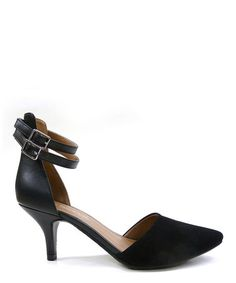 Black Tatum Ankle-Strap Pump by cityClassified #zulily #zulilyfinds