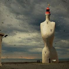 very odd shaped lighthouse Amazingly beautiful