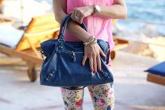 Balenciaga bag, Asos bracelet