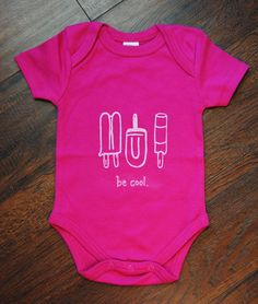 Be Cool Bodyuit and Toddler Tee by AuroraJanesBoutique on Etsy