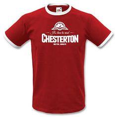 Stampa T-Shirt Uomo #chesterton, #frassati, #distributismo @amchestertonsoc  @chestertonacad