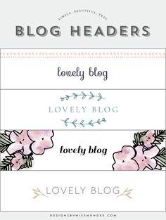 Blog Header Designs - Designs By Miss Mandee
