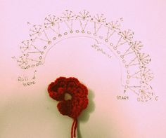 #crochet Rose bud ~ Chart  instructions ✿⊱╮Teresa Restegui http://www.pinterest.com/teretegui/✿⊱╮