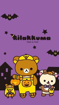 Rilakkuma Wallpaper, Cute Characters, Fictional Characters, Kawaii, Line Friends, Halloween 2, Halloween Wallpaper, Sanrio, Animal Crossing