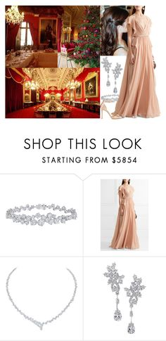 """Hosting the formal Christmas eve dinner at Edinburgh Castle"" by maryofscotland ❤ liked on Polyvore featuring Harry Winston, Elie Saab and Jimmy Choo"