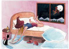Merche Moreno Ilustración y Diseño: Una bruja sin escoba: Segunda Parte