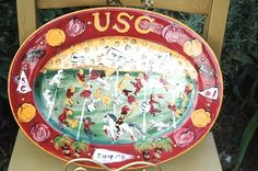 Usc Hand Painted Pieces By Lesal Lesal Custom Ceramics