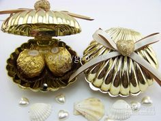 Wholesale Favor Holders - Buy Sea Shell Heart Favor Box Beach Themed Wedding Party Shower Gifts Candy Boxes Bomboniere Favours, $0.61 | DHga...