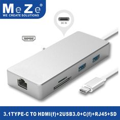 Latest USB-C Hub, HDMI Output, Supports 4K, 3.0 Type-C Hub with Power for Charging