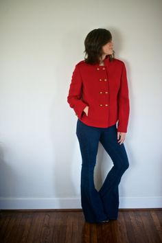 First Lady Brooks Brothers Short Peacoat  Little Red by Binknits