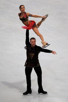 Vera Bazarova and Yuri Larionov of Russia Pairs Free Skating Trophee Eric Bompard ISU, Pairs costume inspiration for Sk8 Gr8 Designs