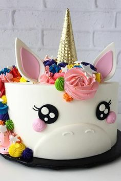 Unicorn Happy Birthday Wishes Cake With Your Name.Create Name On Birthday Wishes Cake.Cartoon Birthday Wishes Cake With Name.Best Birthday Cake Name Pix Editor Cute Cakes, Pretty Cakes, Beautiful Cakes, Amazing Cakes, Bolo Fack, Savoury Cake, Creative Cakes, Cake Art, Cake Designs