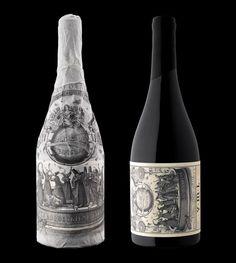 Pinot Noir / love this illustration-heavy wine label for Virginia Marie Lambrix. Designed by STRANGER & STRANGER.