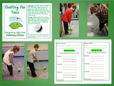 Elementary Matters: Golfing for Tens (with freebie)