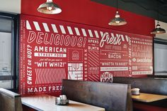 All American cafe inspiration ? Streetz American Grill | Cue | A Brand Design Company