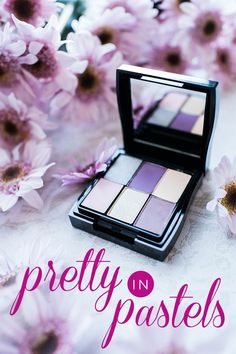 Nothing says spring like makeup looks in soft pastels! Mary Kay® Mineral Eye Colors have a natural, luminous finish that looks gorgeous on any skin tone. Click to shop shades like Sterling, Iris, Sweet Cream, Ballerina Pink, Moonstone and Lavender Fog!
