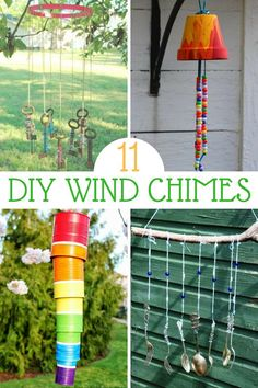 Looking for some fun, kid-friendly crafts that are music to your ears? These DIY wind chimes are easy and fun to make. Here are our favorites. Cute Kids Crafts, Summer Crafts For Kids, Diy For Kids, Easy Crafts, Teen Crafts, Kids Fun, Summer Fun, Diy Wind Chimes, Upcycled Crafts