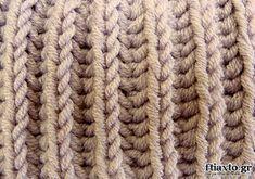 Πλέξιμο - Τεχνική Brioche ή Εγγλέζικο Λάστιχο Crochet Boarders, Silk Art, Macrame Bag, Knitting Stitches, Knit Patterns, Merino Wool Blanket, Handicraft, Knit Crochet, Sewing