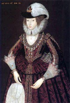 English Portraits from 17th Century Clothing, 17th Century Fashion, 17th Century Art, Historical Costume, Historical Clothing, Historical Dress, Red And Black Gown, School Portraits, Baroque Fashion