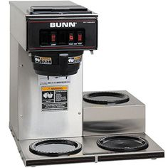 Bunn VP173 133000003 Low Profile Pourover Coffee Brewer with 3 Warmers Bunn 133000003 * Read more reviews of the product by visiting the link on the image.