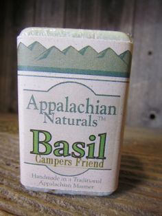 Camper's Friend! Keep those bugs away with our Basil Soap! Appalachian Naturals - Basil Natural Soap, $5.95 (http://www.appalachiannaturalsoap.com/basil/)
