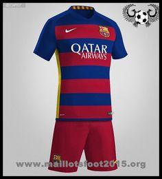 Affichant avec fierté l'écusson tissé et les détails caractéristiques de l'équipe, ce maillot de foot FC Barcelona Domicile 2015-2016 personnalise rend hommage à l'un des plus grands clubs de football.