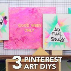 Art and craft videos · diy wall art canvas, painted canvas diy, diy paintings on canvas, cute paintings Diy Canvas Art, Diy Wall Art, Canvas Ideas, Kids Canvas, Canvas Crafts, Diy And Crafts Sewing, Diy Crafts, Diy Arts And Crafts, Eco Deco