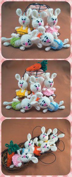 Easter gift Easter present small gift easter basket stuffers Easter bunny crochet rabbit stuffed bunny crochet easter Small gift for kids