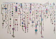 My first attempt at Zenspirations Dangling, a la Joanne Fink! (6/24/14)  ~Elisa Malo~