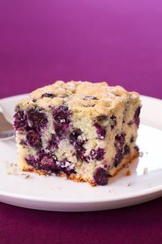 Blueberry Breakfast Cake - Make all year long with frozen blueberries!