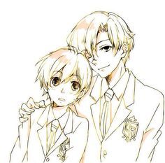 "Haruhi and Tamaki, from the series ""Ouran High School Host Club."" >> Kawaii!"