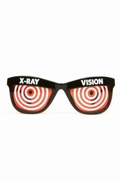 Jeremy Scott  Red with X-Ray Vision Ray Ban Sunglasses