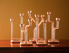 Industrial Decor Copper Pipe Candlestick by McGdesign on Etsy, $45.00