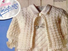 Baby Knitting PATTERN  Matinee Jacket/Sweater in DK by carolrosa