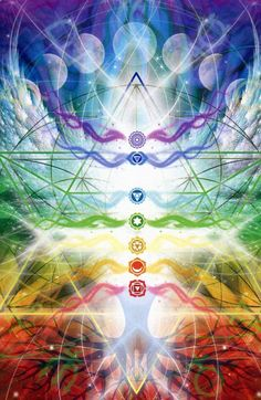 Chakra Healing Reiki Attunement - New Earth Energies Reiki Attunements Chakra Art, Chakra Healing, Sacred Geometry Art, Sacred Art, Geometry Tattoo, Tantra, Spirit Science, Visionary Art, Flower Of Life