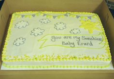 You Are My Sunshine Sheet Cake Party Cakes By Capitol