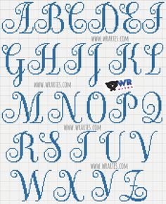 New embroidery monogram letters cross stitch Ideas Cross Stitch Letter Patterns, Monogram Cross Stitch, Small Cross Stitch, Embroidery Monogram, Cross Stitch Designs, Stitch Patterns, Embroidery Alphabet, Cross Stitching, Cross Stitch Embroidery