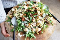 Roasted Cauliflower and Almond Salad with a Tahini-Cumin Dressing