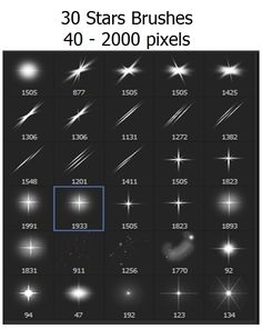 Stars, Sparkle - 30 Brushes Photoshop #ps #brush Download: http://graphicriver.net/item/stars-sparkle-30-brushes/6765494?ref=ksioks